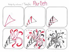 Free Zentangle How To Patterns | Happy May Day, everyone. A nice day for a party. So, I give you Parteh ...