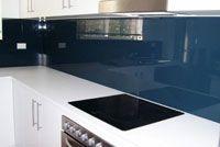 blue splashback - randrglass.com.au Not quite the right blue that I'm looking for, though Kitchen Planner, Splashback, Flat Screen, Kitchen Appliances, Interior Ideas, Home, Image, Blood Plasma, Diy Kitchen Appliances
