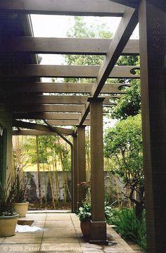 ❧ Tropical / Hawaiian Style Wooden Patio Arbor