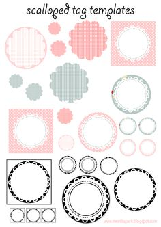 FREE printable scalloped circle tag templates