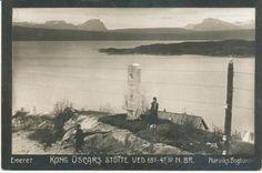 Narvik i Nordland fylke Utg Narvik Boghandel  Kong Oscars støtte på Ofotbanens nordligste punkt 68 grader og 47,30 n.br.