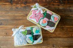 DIY baby washcloth sushi bento boxes. Adorable!