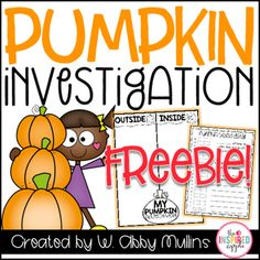 This is a small set of FREE printables to use as you investigate pumpkins and pumpkin seeds! You can see how I used these in my first grade classroom by reading this blog post. ENJOY!