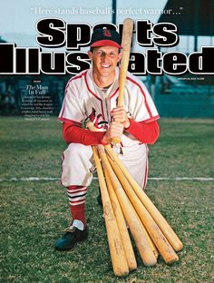 One of four Sports Illustrated covers honoring the memory of St. Louis Cardinals baseball player Stan Musial ❤⚾