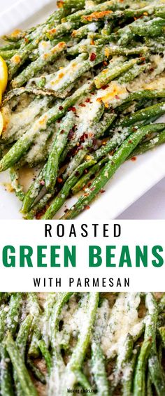 These delicious Green Beans with Parmesan are easy to prepare with just a handful of ingredients. So easy to make! These roasted veggies are ready in just about 25 minutes. The perfect low carb and keto side dish and so kid-friendly. Gluten Free Recipes Side Dishes, Gluten Free Recipes For Breakfast, Healthy Gluten Free Recipes, Low Carb Dinner Recipes, Sugar Free Recipes, Healthy Dishes, Vegetarian Recipes, Diabetic Recipes, Keto Recipes