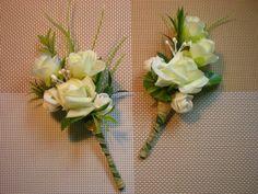 Свадебная бутоньерка для жениха.Своими руками.  DIY. Wedding Flowers
