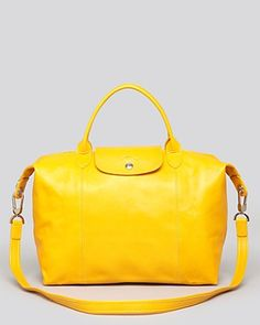 Longchamp Satchel - Le Pliage Cuir Medium | Bloomingdales