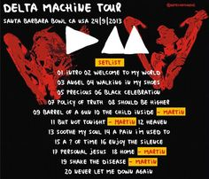 Depeche Mode... May be exactly what they played at Atlantic City on 8/30 when I saw them.