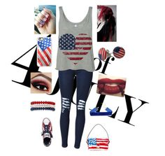 """""""4th of July"""" by cutiepie92343 ❤ liked on Polyvore featuring Casetify, Marc Jacobs, Chicnova Fashion, Converse and Kim Rogers"""
