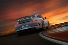 The new 911 GT3 sunset drive...Beautiful!