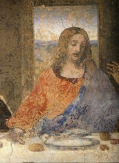 Leonardo da Vinci - Last supper. (Detail) Christ.1495/98 - S.Maria delle Grazie. Milan