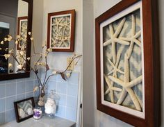 Picture frames with dried starfish. Find any type of dried starfish on ShopWiki for this easy DIY here: www.shopwiki.com/l/dried-starfish?sb=1=pinterest
