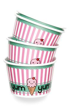 Adorable little ice cream cups!