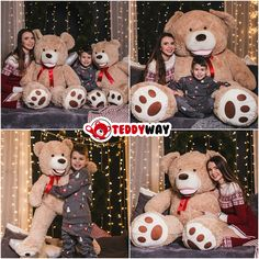 Christmas surprise - the giant Teddy is ready to go to the homes of your relatives - Surprise your whole family! ❤️  Forever giant, soft and cheerful - www.teddyway.com ❤️