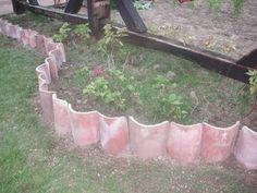 jardinera de tejas | Veis el detalle del semicirculo???, si cuando quiere, hace bien las ...