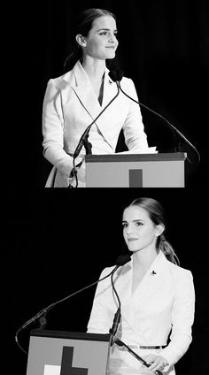 Emma Watson speaking to the UN