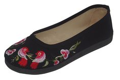 HONGRUIJIA Women's Embroided Casual Flats Slip-On Multi Color -- You can get more details by clicking on the image.
