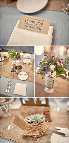 rustic table decor! great setting!