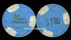 #LasVegasCasinoChip of the day is a $1 Bob Stupaks Sinabar Chip you can get here http://www.all-chips.com/ChipDetail.php?ChipID=17255 #CasinoChip #LasVegas