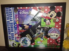 My Disneyworld vacation shadow box !