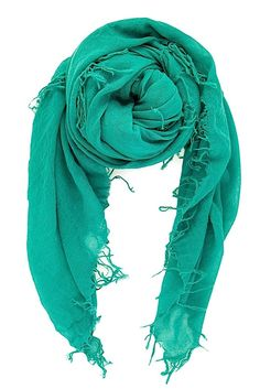 Chan Luu Alhambra Green Cashmere and Silk Scarf $195