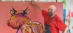 adam_cullen-at-work Australian Artists, Artist, Contemporary Art, Moose Art