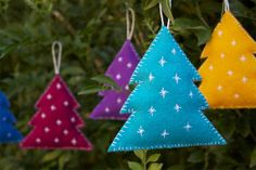 Crafted: DIY - Felt christmas decorations