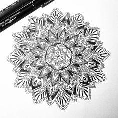 Finished 🌸 already posted another photo of this mandala over my personal account  @heiditea_ ♥ #creative #iblackwork #blackwork #ink #pen #featuregalaxy #beautiful_mandalas #mandala #mandalaart #zentangle #zendoodle #arttherapy #doodleart #love_mandalas #artoftheday #black #sketch #sketchbook #sketch_daily #myart #boho #tattooidea #tattoo #tattooart #heymandalas