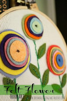 This looks like a good way to use little scraps of leftover felt.                                                                                                                                                                                 More