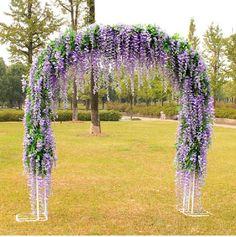 Amazon.com - Ayygifti Set of 12 Artifical Wisteria String Wedding Decor Hanging Silk Flower String NEW (White, 100CM) -