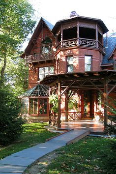 Mark Twain House, Hartford, Connecticut.