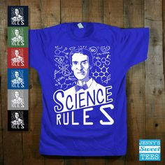 Science Rules   Science Shirt  Retro by JennysSweetTees on Etsy