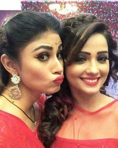 Shivangi and shesha Bollywood Girls, Bollywood Actors, Indian Tv Actress, Indian Actresses, Celebrity Singers, Celebrity Style, Girl Photo Poses, Girl Photos, Mauni Roy