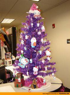 Árbol de Navidad Hello Kitty, el preferido de tu hija.
