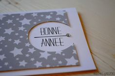 Carte de voeux Bonne Année Au Étoiles par TheMinimalisticShop Diy Cards, Christmas Cards, Dec 2016, French Words, New Year Card, Creative Cards, Scrapbook Cards, Happy New Year, Projects To Try