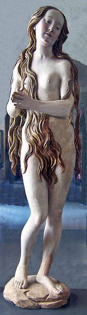 St. Mary Magdalene by Erhart - Carved from limewood about 1510 - The Louvre