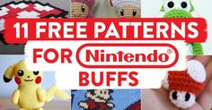 11 FREE Patterns for Nintendo Buffs