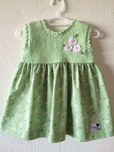 Hand knitted dress for baby girl [