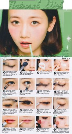 Natural Girl Makeup tutorial from the July 2013 issue of Zipper.