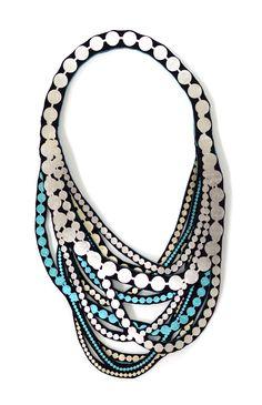 PearlPetite by Uli #textilejewellery #fashionJewellery #contemporaryjewellery www.uli.nu