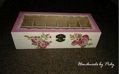 handmade, box, flowers lace