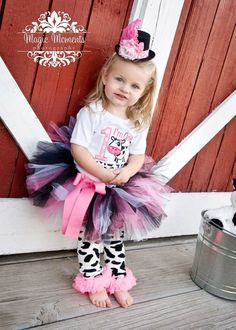 PINK AND BLACK birthday tutu size 1 2 3 4 5/6 by alliballiboutique, $23.95