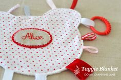 Tutorial: Teddy Taggie Blanket ~ by Down Grapevine Lane