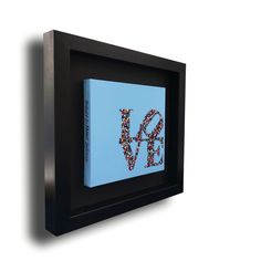 L0VE • 30X30 • Tribute to Robert Indiana • Blue LOVE •