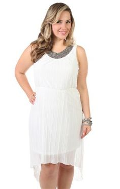 Plus Size White Bachelorette Party Dress 77