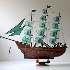 Large Ship Model Teal, $300, now featured on Fab.