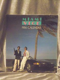 Vintage 1986 Miami Vice TV Show Series Calendar