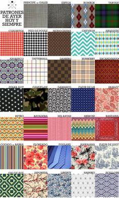 Manipulacion Textil: Patrones clasicos