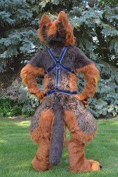 2 Layer Nylon Body Harness Wolf Fursuit, One Drop, Furry Drawing, Freddy S, Green Tops, Layers, Cosplay, Costumes, I Like You