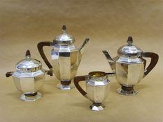 Salle des ventes ABC : ORFEVRERIE GALLIA / CHRISTOFLE, service à thé et café en…